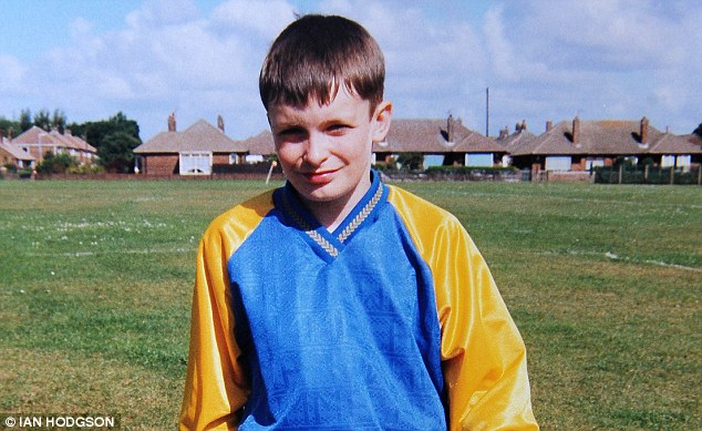 Schoolboy: Johnson¿s parents keep a DVD of his first appearance at Wembley in 1998 for Peterlee Boys