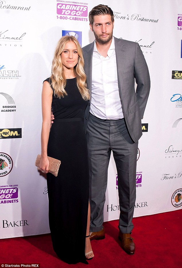 Proud parents: The trim reality star posed with her husband Cutler at the Dancing With The Stars charity event in Illinois in August