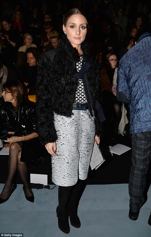 Olivia Palermo attends the Nina Ricci show at Paris Fashion Week