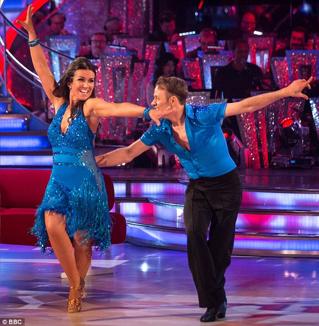 Sparkling: Reid with dancer Kevin Clifton. Many celebrity couples have split up after appearing on the show