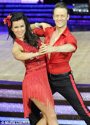 Not strictly together: Susanna Reid, pictured with dance partner Kevin Clifton, appears to be separated