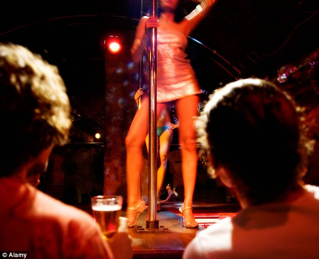 Extra-curricular: Almost a third of strip club workers are now students, according to a recent study. Some are middle-class and see the cash-in-hand work as a 'bonus' while others need to make ends meet