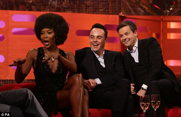 Not just a pretty face: Naomi seemed to have Ant and Dec, who also appear on the show, in stitches