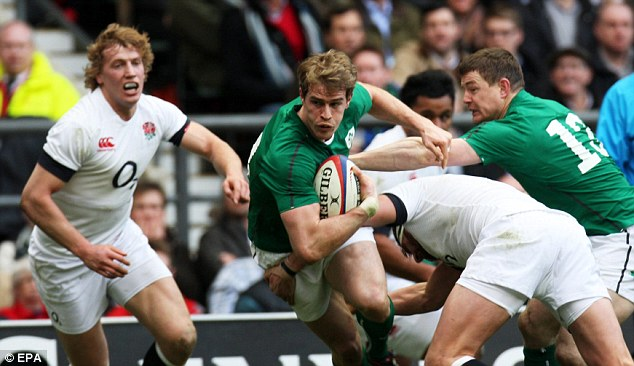 Precaution: Andrew Trimble sat out training on Thursday due to a knock on his knee
