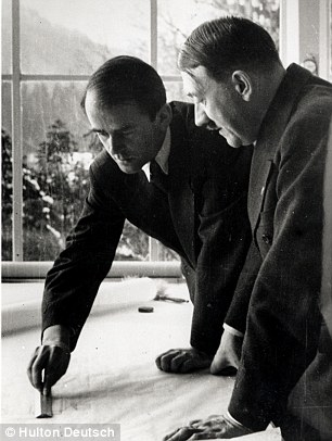 Albert Speer (left), German architect and National Socialist (Nazi) leader. A member of the Nazi party from 1931, he became its official architect after Hitler (right) came to power