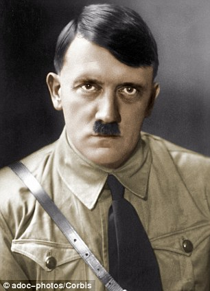 Adolf Hitler (1889-1945), Austrian-born German statesman, in 1935 - his book Mein Kampf was sold by an LA auction house as 'an ominously signed set of books that futilely warned the world of Hitler's intentions' adding they were more scarce for being signed to a fellow Nazi leader
