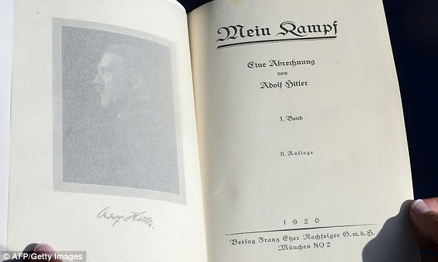 The book was advertised as 'an ominous detailing of Hitler's Nazi manifesto and his plan for Germany'