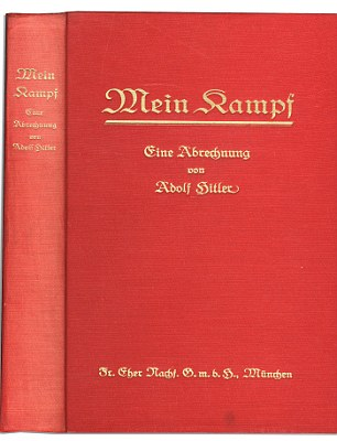 The copy of Mein Kampf is a true original, and came in two volumes, dated 1925 and 1926, when the volumes were written and publish a year after one another