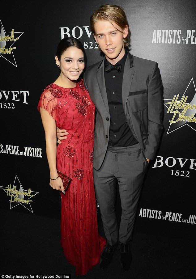 Red carpet duo: Vanessa was later joined by her boyfriend Austin Butler at the glitzy Hollywood event