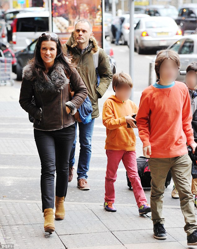 It's over: Susanna seen out with Dominic and their children who supported her on TV during her heavily promoted Strictly campaign