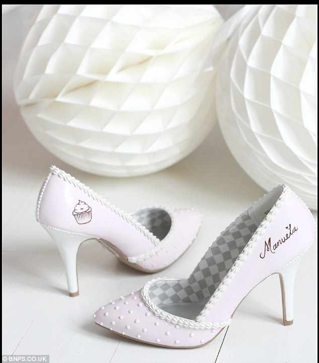 Personalised: Chris offers a service whereby heel aficionados can order their own shoes from £30