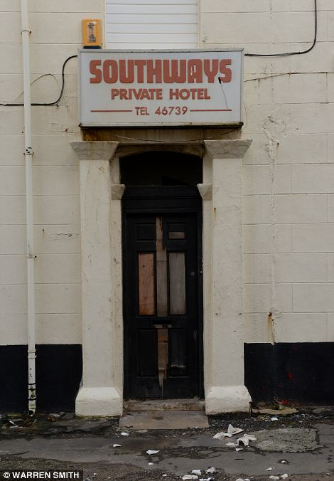 Not inviting: This battered doorway was once the portal into the Southways Private Hotel