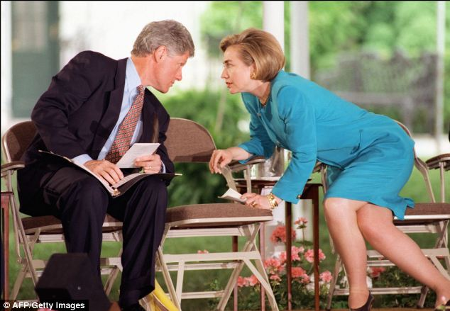 Then-first lady Hillary Clinton is inextricably connected to her husband Bill's presidency, taking heat for her involvement in some of the scandals that put asterisks on his political achievements