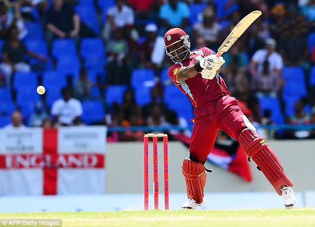 Big hitter: Darren Sammy scored 61 from just 36 balls