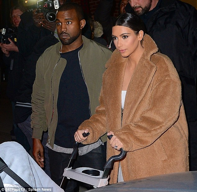 Understandably outraged: Kim - seen here with fiance Kanye West earlier this week - is said to have fled the Vienna Ball following the incident