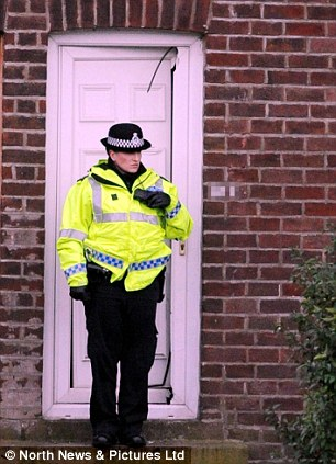 Police forced their way into one of the properties in Newcastle as part of a series of raids