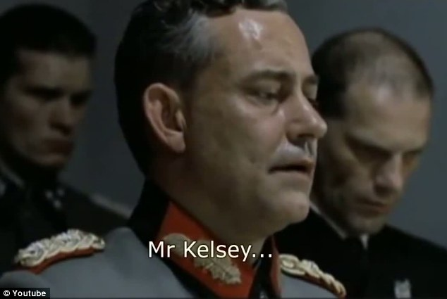 In the video, instead of addressing Hitler, the German SS generals address 'Mr Kelsey'