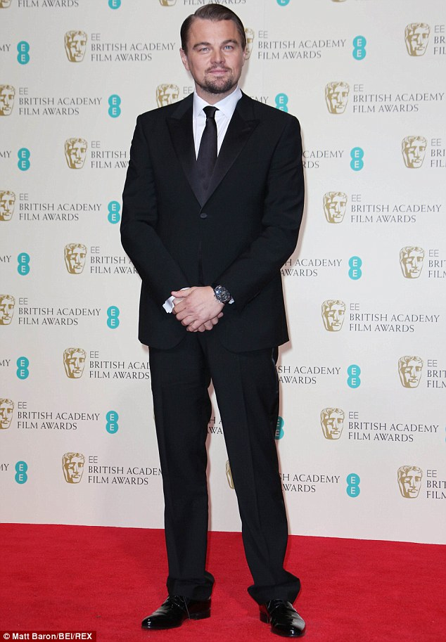 Ready for R&R: The 36-year-old Oscar nominee, pictured at the BAFTA awards on February 16 in London, has said that he wants to take 'a long, long break' this year