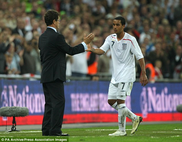 No grudges: Walcott doesn't hold it against Fabio Capello for not selecting him for the 2010 World Cup