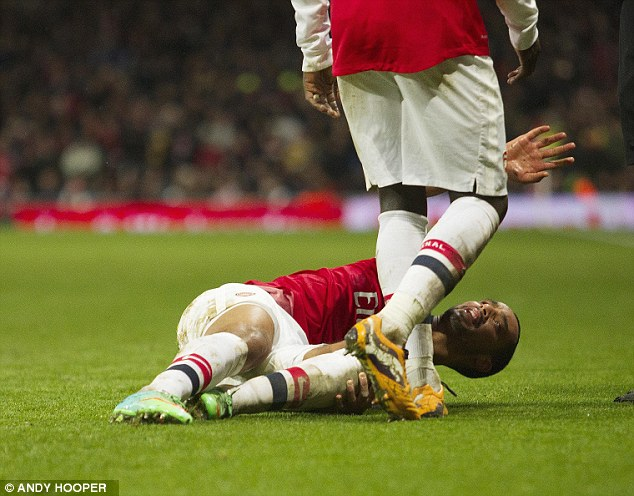Just banter: Walcott has 'no regrets', but the knee ligament damage has ruled him out of the World Cup