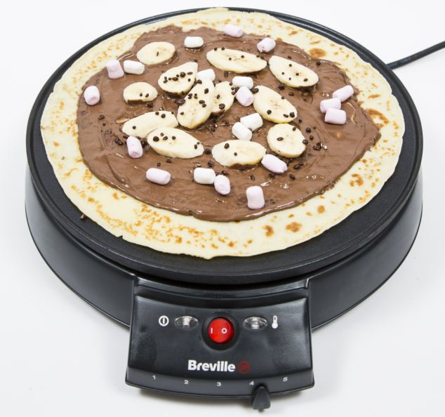 Traditional: The Breville Maker with a Nutella, banana, marshmallow and popping candy pancake