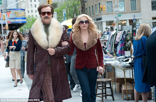 Successful sequel: The second Anchorman film has racked up an impressive $169million worldwide at the box office so far