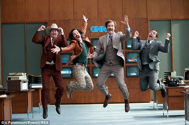 Reunited:  A special version of Anchorman 2: The Legend Continues was re-released into theatres on Friday for one week only
