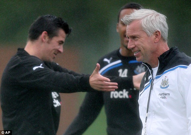 Best of pals: Barton, who has often found himself in trouble for acting out, came out in Pardew's defence
