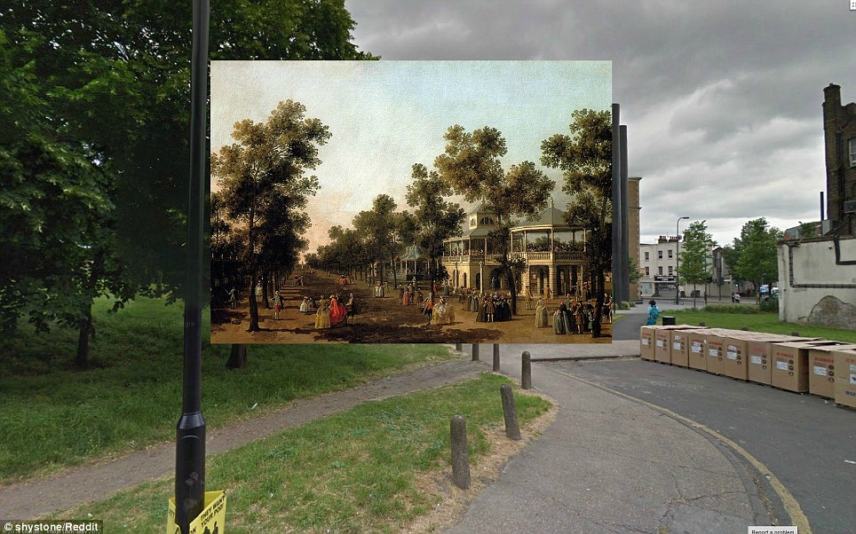 View of The Grand Walk by Canaletto (1751) - The Pleasure Gardens in Vauxhall, seen in this Canaletto painting, hosted music and live entertainment during the 1600s. (It is also where Amelia's brother Joseph gets drunk in Thackeray's novel Vanity Fair)