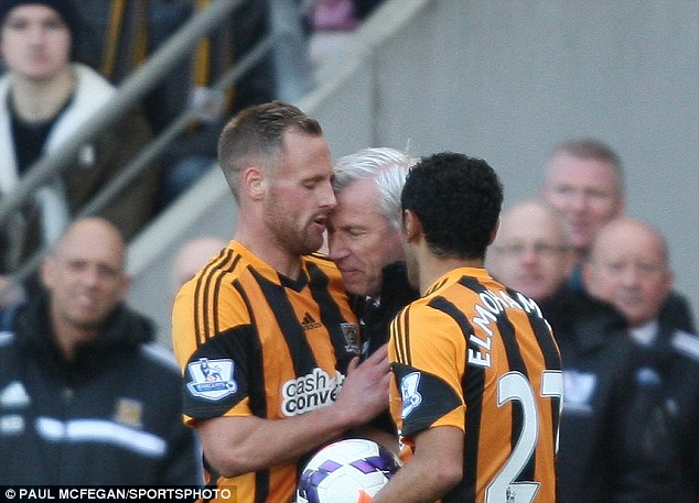 Appeal: The FA are considering appealing against Alan Pardew's seven-match ban for headbutting Hull's David Meyler
