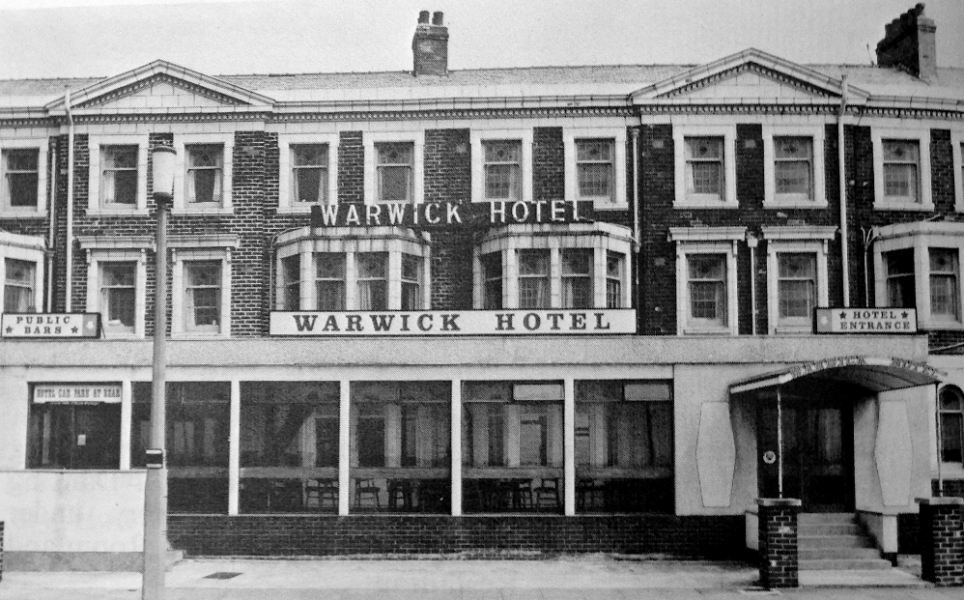 Popular: At the height of its success, The Warwick Hotel, with its grand double-fronted vista and indoor heated pool, needed fifty staff to run