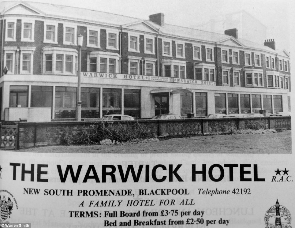 Old rates: The hotel is pictured in 1970, when guests could pay £3.75 per day for full board and £2.50 per day for bed and breakfast