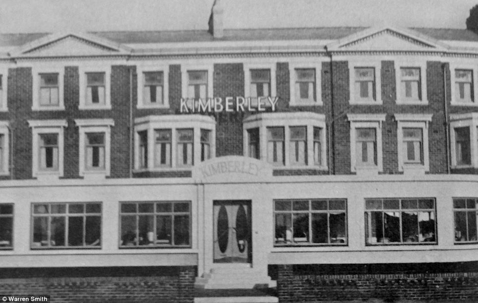 Contrast: The Kimberley hotel is pictured in the 1960s, decades before squatters took over the once-grand building