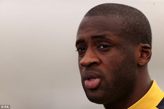 Engine room: Yaya Toure has a habit of popping up with important goals for Manchester City