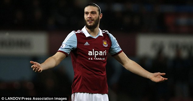 Belief: Collins believes his Hammers team-mate Carroll deserves a place in England's World Cup squad