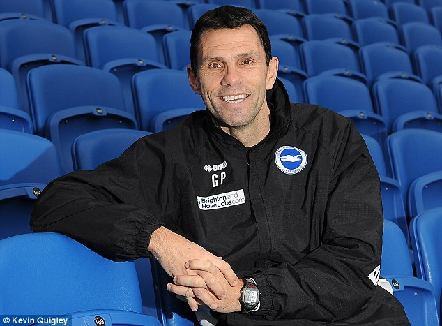 South coast smile: Poyet had a spell in charge of Brighton and Hove Albion and brought success to the club