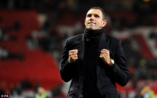 Positive attitude: Sunderland boss Gus Poyet played with a passion and freedom for the game and this has translated through to his management style