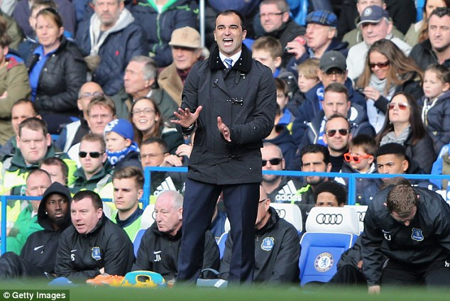 Retaining belief: Roberto Martinez, current Everton manager, never changed his belief teams could be successful playing progressive football in the lower leagues