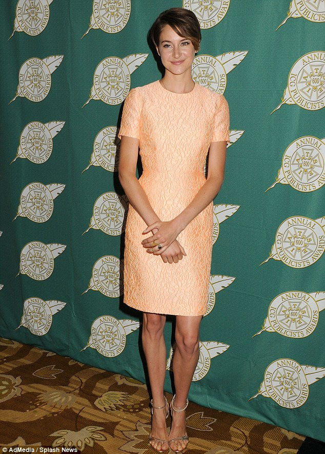 Elegant showing: Shailene Woodley looked pretty as she arrived in Beverly Hills to the Publicists Awards Luncheon on Friday