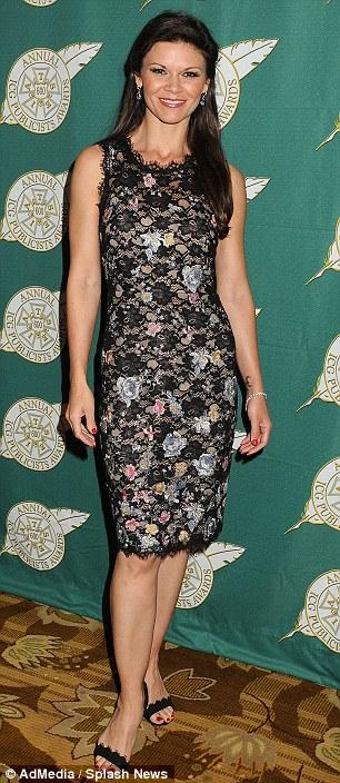 All smiles: Danielle Vasinova arrived in a floral print dress