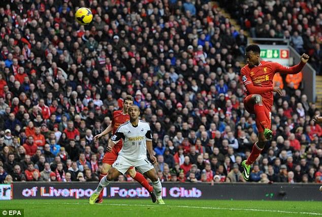 Prolific: Daniel Sturridge has scored the majority of Liverpool's goals in the last month