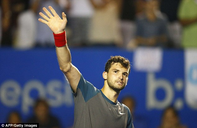 Waving to the crowd: A win over Murray counts as one of the biggest of Dimitrov's career