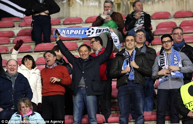 Complaint: Swansea will complain to UEFA about their treatment in Naples