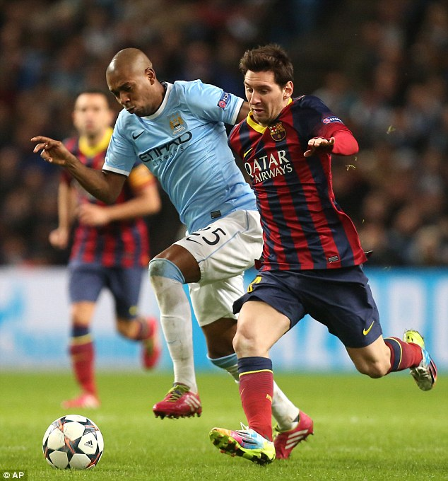 Dream start: Fernandinho has impressed since joining Manchester City for £30million in the summer and is now chasing his first silverware for the club when they take on Sunderland in the Capital One Cup final on Sunday