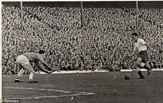 Legend: Jimmy Greaves scores for Spurs against West Brom in 1962