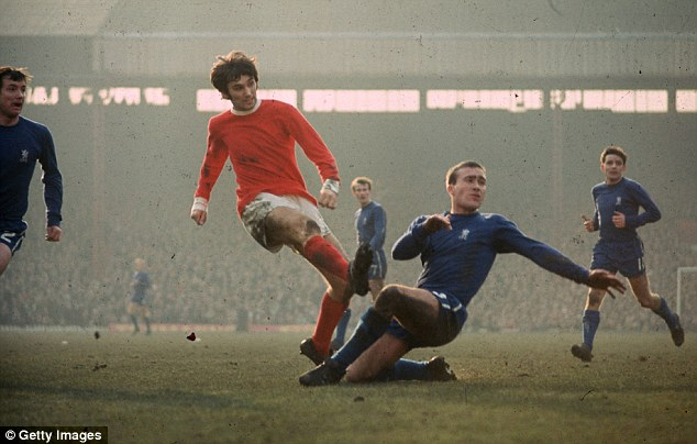Hard man: Greaves said that Chelsea's Ron Harris (right) was the hardest player he ever faced