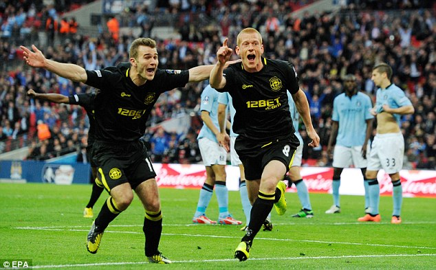 Inspiration: Sunderland will look at Wigan's win over Manchester City in the FA Cup last year