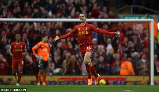 Club mates: Roy Hodgson has selected a number of Liverpool players, such as Jordan Henderson (above) and Steven Gerrard (below)