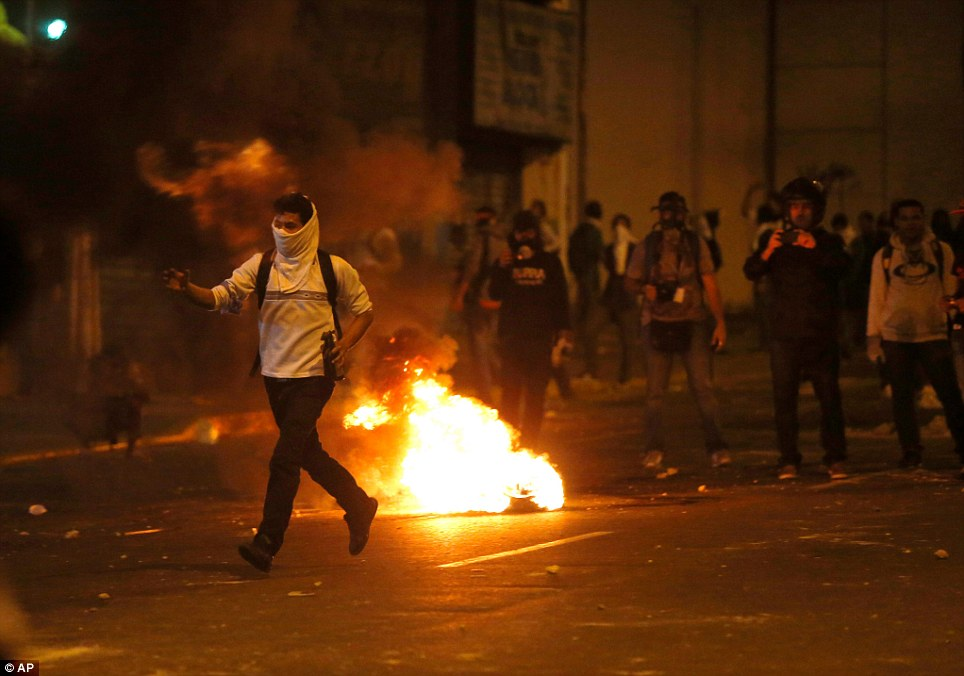 Wildfire: The protests escalated after what began as peaceful mass marches on February 12, the country's National Youth Day