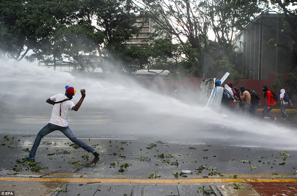 Police have used water cannon and rubber bullets against the demonstrators, and 17 people so far have died in violent clashes since early February